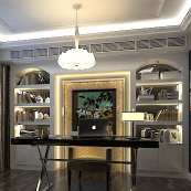 欧式书房3d模型