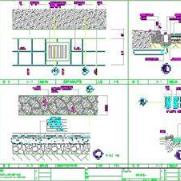 台阶道路明沟溪流CAD图纸