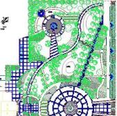 城市公园绿化总平面图CAD图纸免费下载