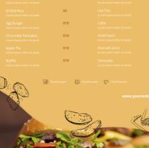 A4菜单模板psd设计