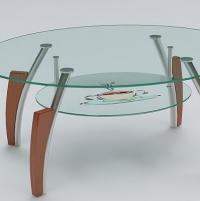 圆形玻璃茶几3DMAX模型