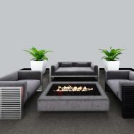 户外休闲沙发茶几组合3D模型