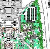 某寺院环境园林规划总平图CAD图纸