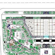 华县艺术广场设计图纸CAD图纸