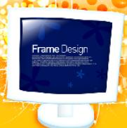 花纹圆点与显示器创意PSD分层素材