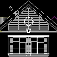 农村三层别墅建筑结构cad图纸