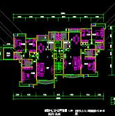 单元楼层建筑设计复式cad平面图纸