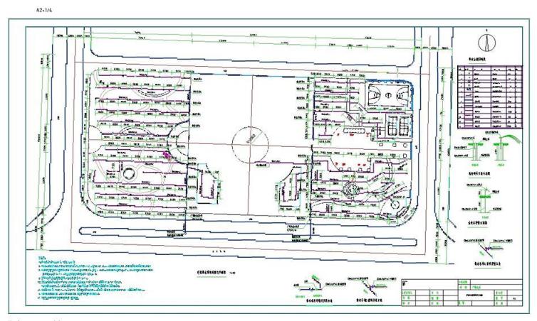 广场绿化灌溉图CAD图纸截图0