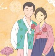 韩式服饰情侣人物psd分层素材