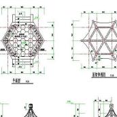 河南经典六角亭子施工图纸CAD图纸