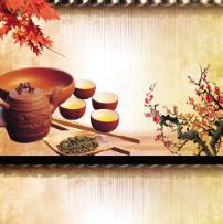 古典茶馆名片卡片设计PSD素材