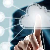 适合于云服务的触屏科技ppt模板
