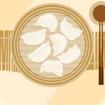 美味饺子PSD海报设计
