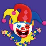 小丑背景的愚人节活动策划ppt模板