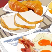 丰富的早餐PSD素材