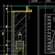 室内客厅立面装修CAD