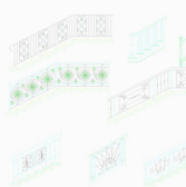 楼梯护栏CAD素材平面素材