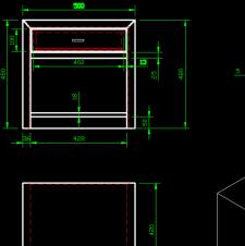 床头柜CAD施工图纸