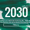 简洁绿色油画笔触背景PPT模板下载
