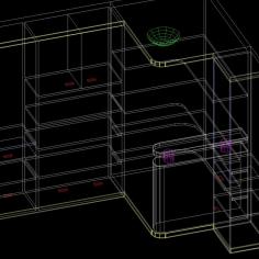 柜子cad模型图稿