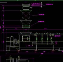 搅拌机安装图CAD机械图纸
