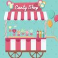 糖果店店招psd海报设计