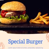 汉堡薯条新品宣传海报psd