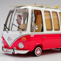 复古红色巴士3D模型