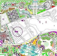 公园总平面图CAD图纸免费下载
