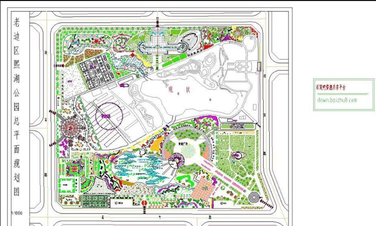 公园总平面图CAD图纸截图0