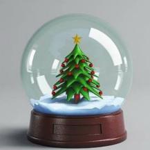 圣诞水晶球3D模型