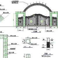 铁艺大门CAD图纸下载