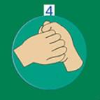 正确洗手七步法psd素材