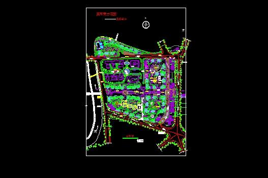 花园园林规划图CAD图纸下载截图0