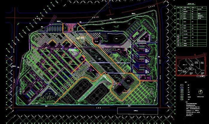 大学校园景观设计cad平面图下载截图0