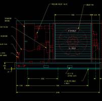 螺杆空压机总图CAD机械图纸