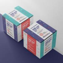 药盒包装样机psd素材