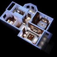 3d整体家装模型免费下载