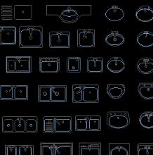 厨房用具素材CAD图