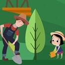 植树节绿色主题PSD海报