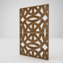 镂空木质屏风3D模型