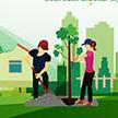 312植树节psd广告海报下载