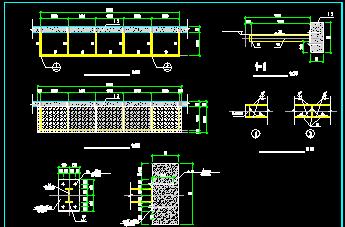 雨棚结构施工cad图纸