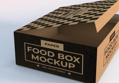 纸质包装盒PSD模板