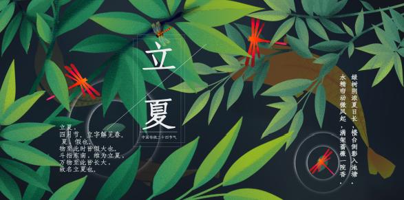 立夏节气海报设计PSD