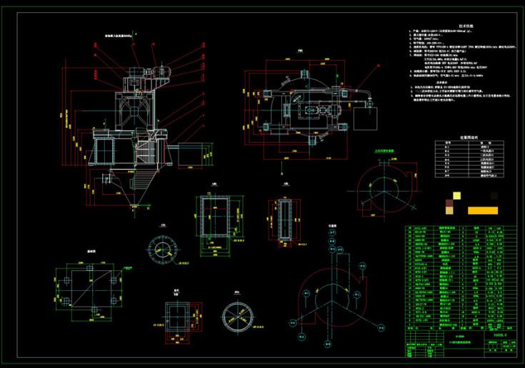 分级机CAD机械图纸