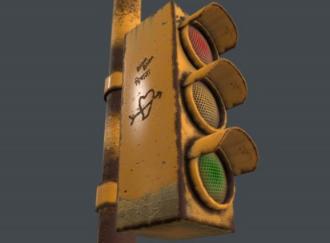 交通信号灯3D模型