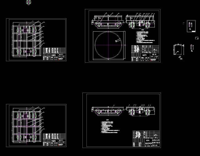 电动平车CAD机械图纸