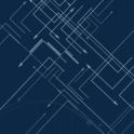 蓝色点线科技风大数据云计算PPT模板