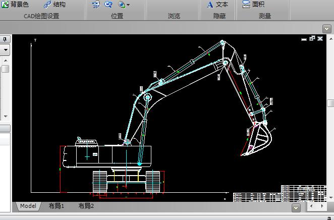 挖掘机装配图CAD图纸下载截图0